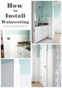 How to install Wainscoting Step by Step