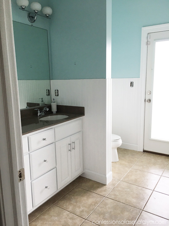 How to install wainscoting confessions of a serial do it - How to install beadboard in a bathroom ...