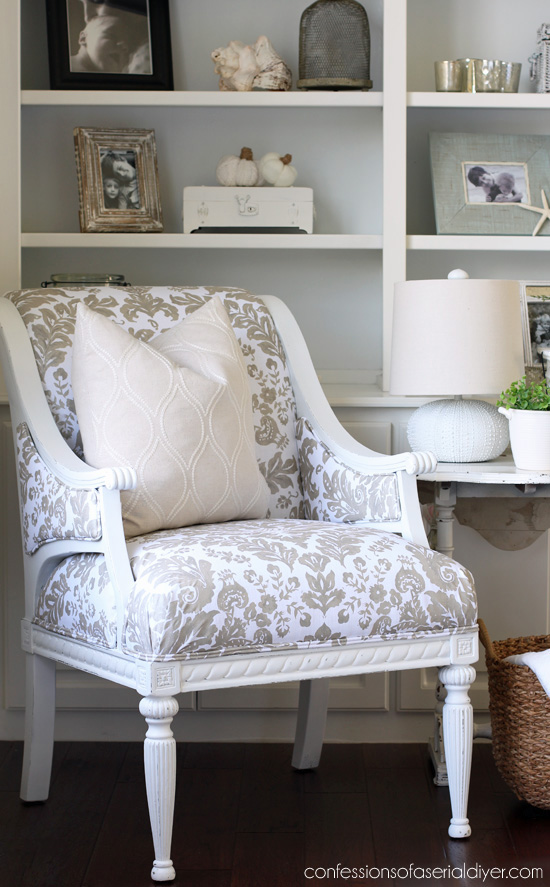 Upholstered Thrift Store Chair Makeover | Confessions of a Serial Do ...