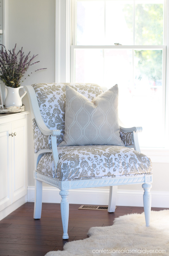 How to upholster a chair the thrifty way!