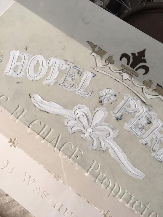 Add a stencil to freshen up a decor piece!