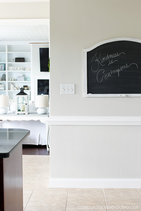 Turn an old mirror into a chalkboard!