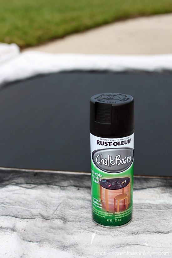 I love Rustoleum chalkboard spray paint for making my chalkboards!