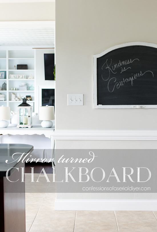 How to turn an old mirror into a functional chalkboard!