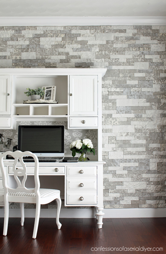Office Feature Wall Reveal With Airstone Confessions Of