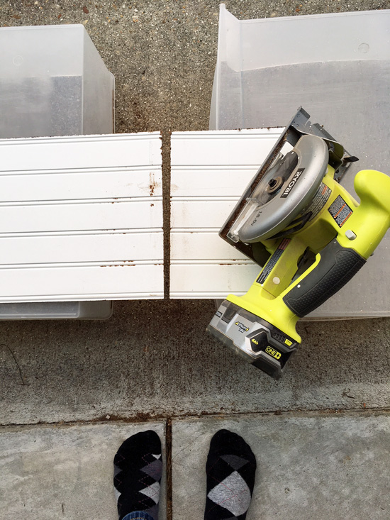 Ryobi circular saw...perfect for these cuts!