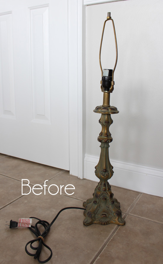 $3 Thrift Store Lamp Makeover