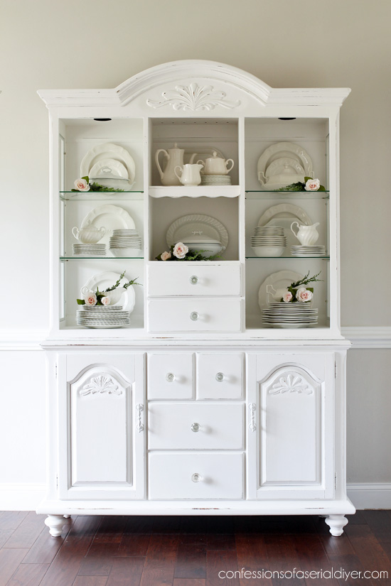 China Hutch Update with Behr's Bit of Sugar from confessionsofaserialdiyer.com