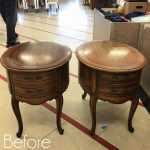 Oval French Provincial Side Tables Makeover
