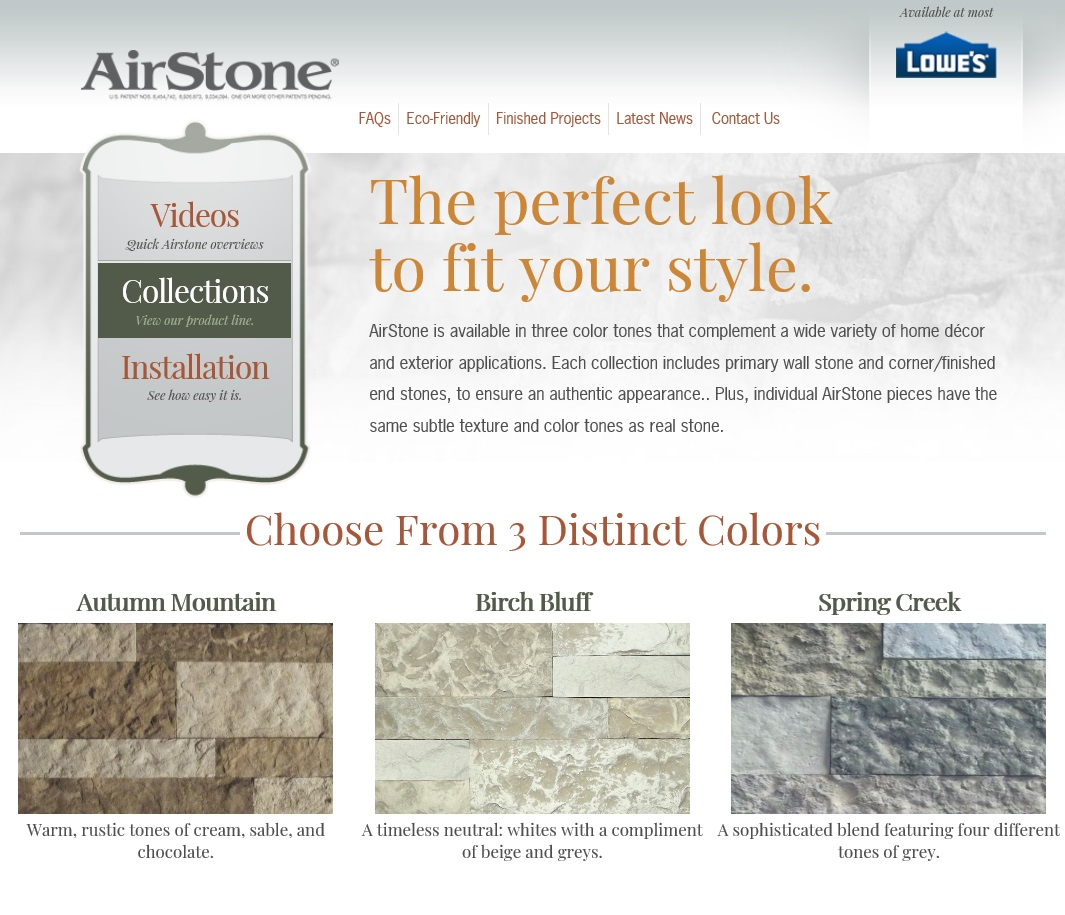 Airstone color chices