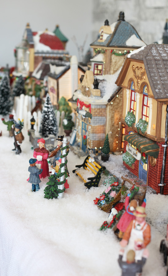 Christmas Village from confessionsofaserialdiyer.com