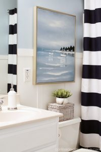Nautical-inspired boy's bathroom from confessionsofaserialdiyer.com