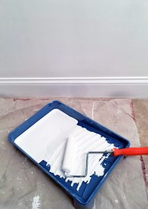 """Use a 6"""" foam roller instead of a regular roller to paint small spaces like bathrooms."""