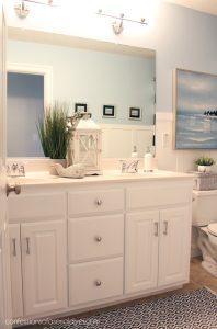 Nautical-inspired boy's bathroom from confessionsofaserialdiyer.com
