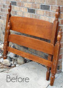 Simple Shabby Headboard Bench