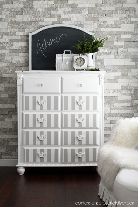 Dresser turned Office Storage from confessionsofaserialdiyer.com