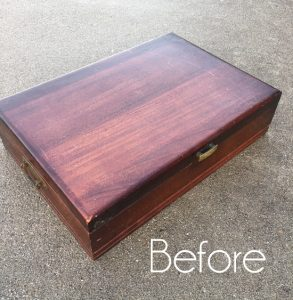 Stenciled Flatware Box Makeover