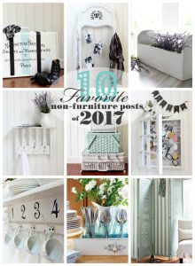 My Favorite non-Furniture Projects of 2017!