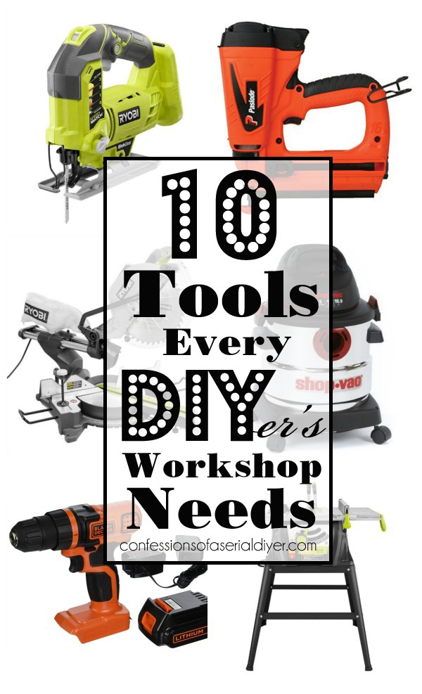 10 Tools every DIYer's Workshop Needs