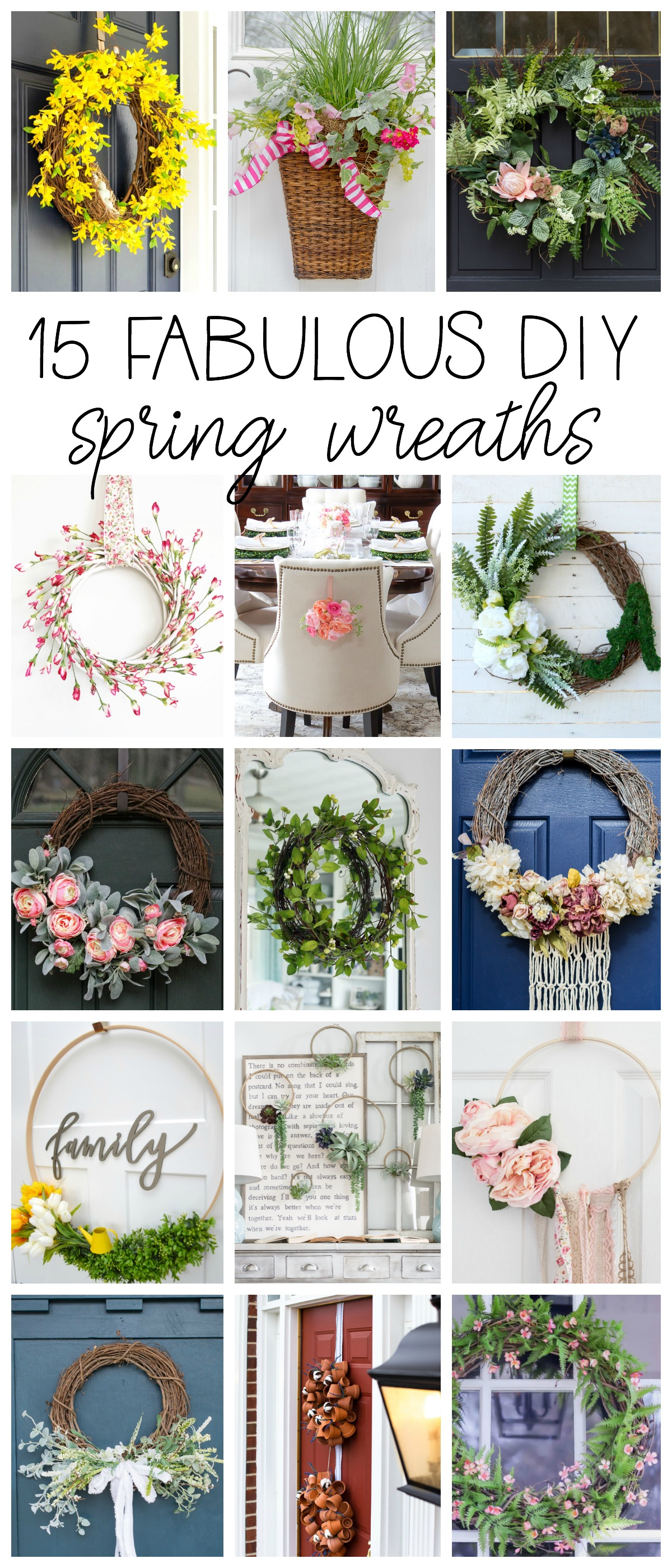 15 Fabulous DIY Wreaths for Spring!