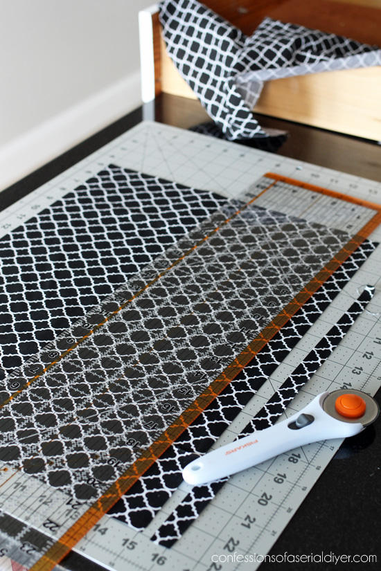 Rotary cutting mat set makes cutting fabric for drawers a breeze!