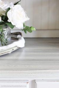 Whitewashing adds a pretty coastal vibe to furniture!