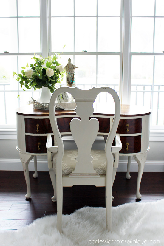 Queen Anne Chair Makeover