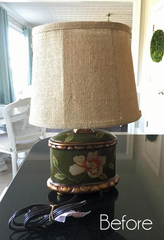 Beach-Inspired Lamp Makeover