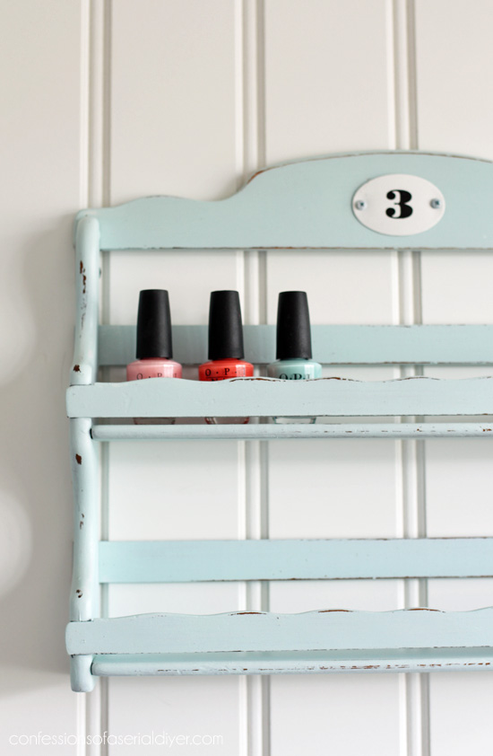 spice rack to nail polish storage