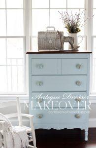 Dresser makeover using Wind Speed by Behr