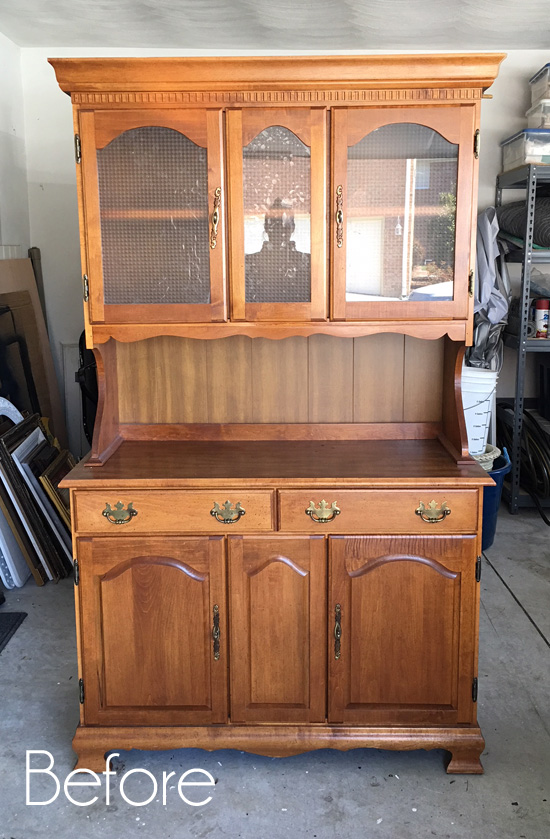$60 Thrift Store Hutch Makeover