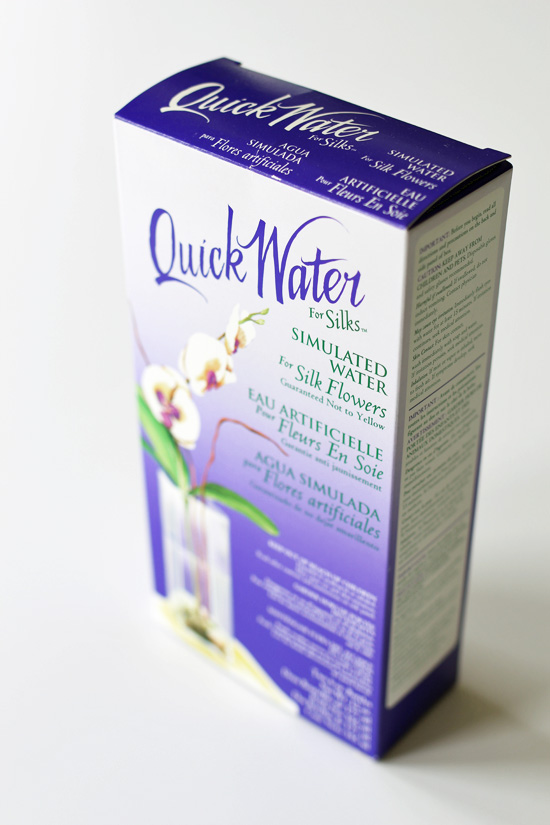 Quick Water for faux florals