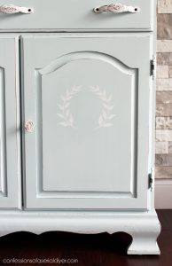 Add sweet details to door fronts with stencils.
