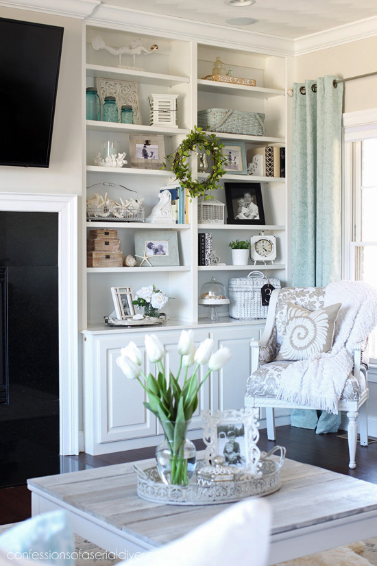 Spring Living Room from confessionsofaserialdiyer.com