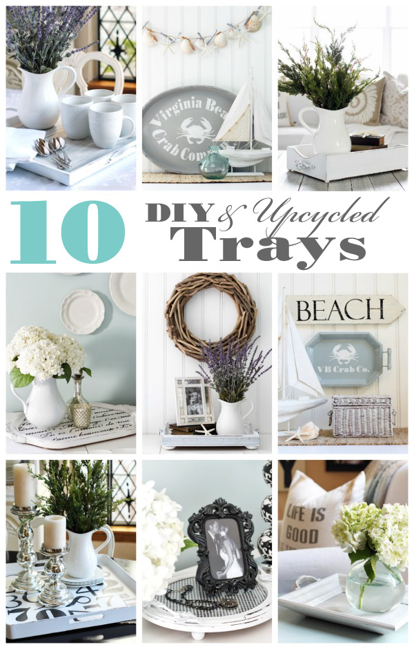 10 DIY & Upcycled Trays