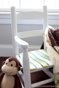 Child's rocker makeover from confessionsofaserialdiyer.com