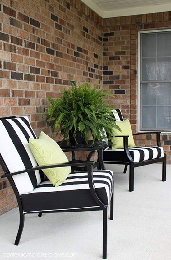 How to give new life to outdoor furniture from confessionsofaserialdiyer.com