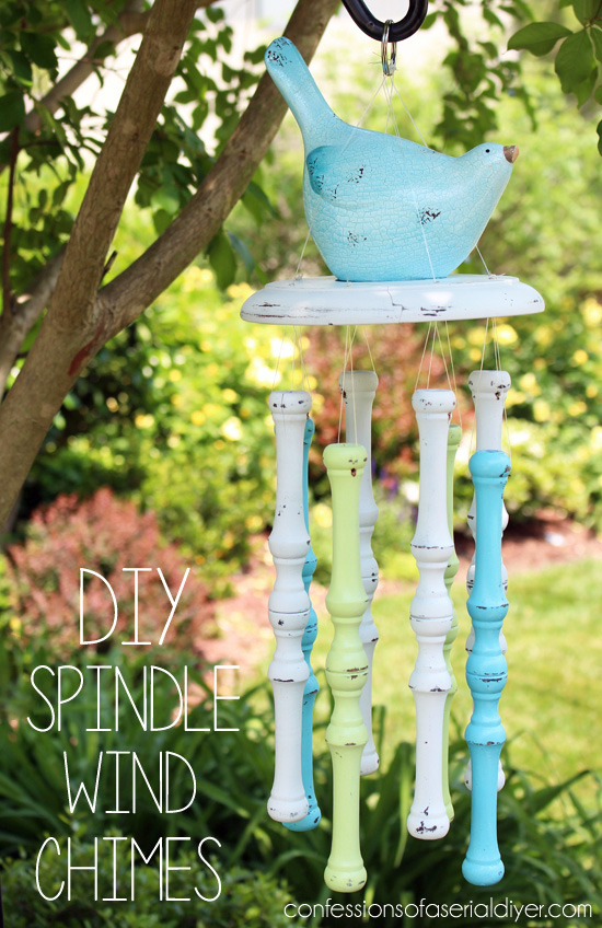 DIY Wind Chimes from Old Spindles from confessionsofaserialdiyer.com