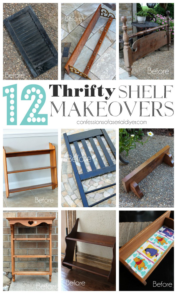 12 Thrifty Shelf Makeovers from confessionsofaserialdiyer.com