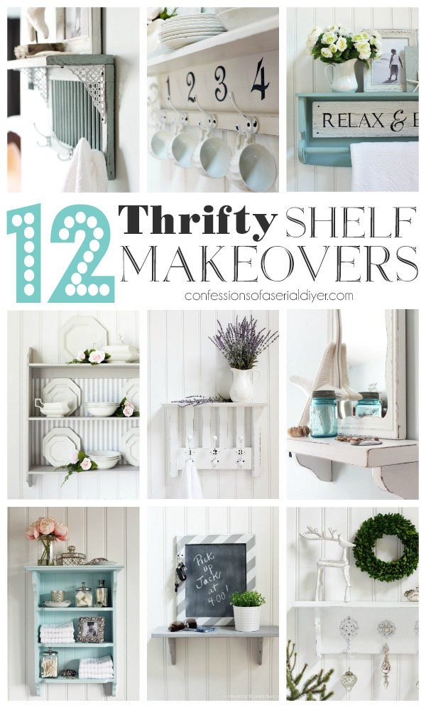 12 Thrifty Shelf Makeovers