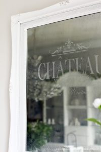 Faux Etched Mirror from confessionsofaserialdiyer.com