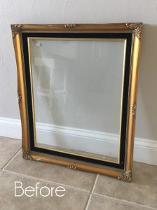 Faux Etched Glass Mirror