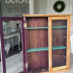 Thrift Store Cabinet turned Necklace Organizer