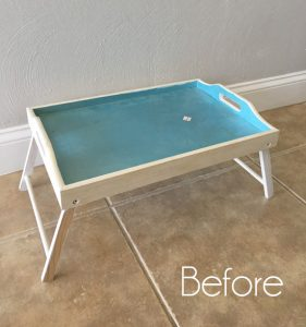 Bed Tray Makeover