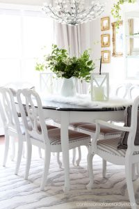 Spring dining room from confessionsofaserialdiyer.com