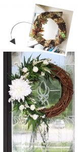 White Floral Summer Wreath from confessionsofaserialdiyer.com