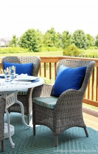 Outdoor wicker chairs from Pier One.