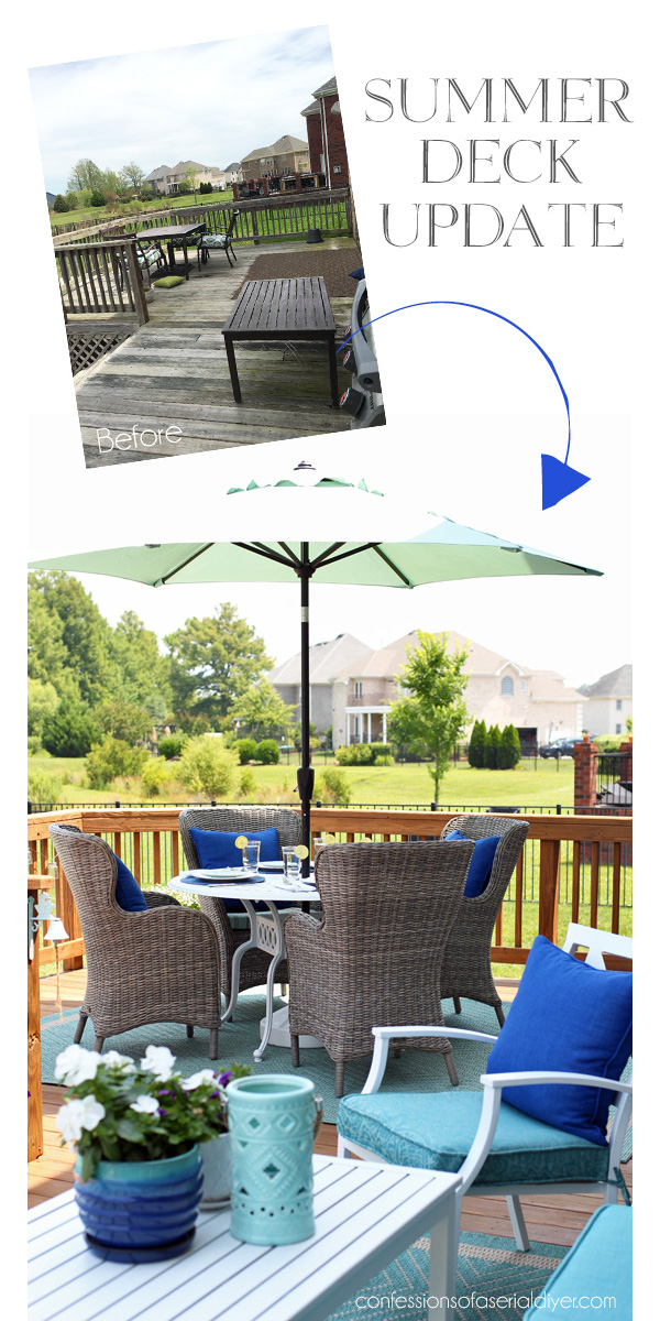 Summer Deck Before and After from confessionsofaserialdiyer.com