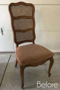Cane-backed Chair Makeover (with Spray Paint!)
