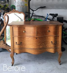 Antique Serpentine Dresser Makeover